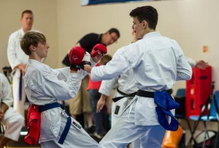 Daniel Brightey sparring
